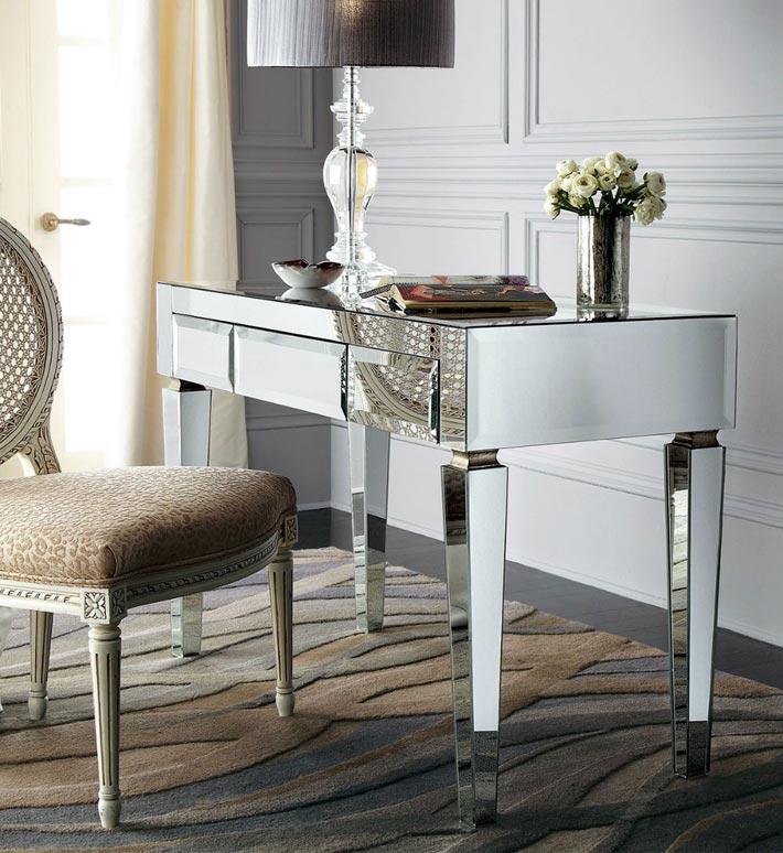 Красота и безупречность зеркальной мебели в дизайне интерьера